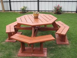 octagon picnic tables plans the new way home decor octagon picnic table for outdoor area
