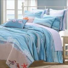 blue cotton quilt.  Blue Coastal Beach Nautical Blue Cotton Quilt Set  Inside L