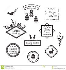 Easter Templates Happy Easter Templates Icons Labels With Birds Eggs And Rabbits