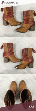 Tamaris Shoe Size Chart Tamaris Patchwork Heeled Leather Boots Pre Owned Condition