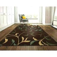 8 x 9 indoor outdoor rug leaves design brown ft 2 in by