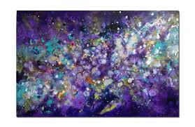 cosmic voyage 11 abstract painting original canvas artwork purple
