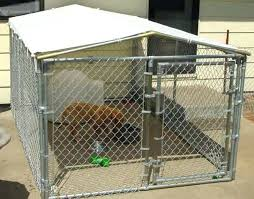 outdoor dog pen with roof kennel cover kits covers