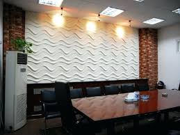 office feature wall ideas. Office Feature Wall And Workspace Beige Wavy Meeting Room Modern Home Ideas I