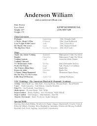 Actor Resume Extraordinary Resume Template For Actors Acting Resume Template Download Theater