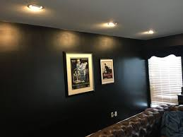 installed 6 recessed directional lights with phillips hue color changing lights for customers artwork