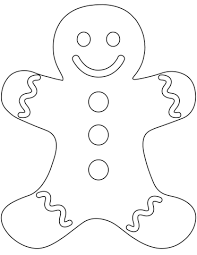 plain gingerbread man coloring page