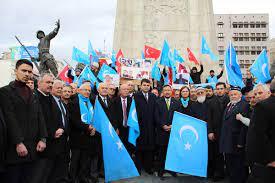 Çin'in Doğu Türkistan politikaları başkentte protesto edildi -
