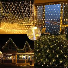 Outdoor Net Lights Warm White Led Net Lights 9 8ft X 6 6ft 192 Led Warm White Outdoor