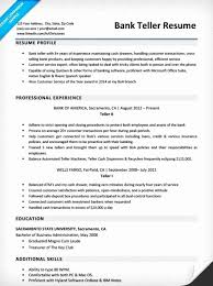 Bank Teller Resume Sample Gorgeous Sample Bank Teller Resume Awesome Resume For Bank Teller Awesome
