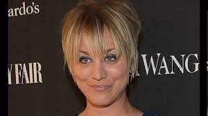 Kaley cuoco haircut short - YouTube