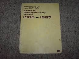 1992 honda civic wiring electrical troubleshooting diagram manual 1987 honda civic crx oem electrical wiring diagram troubleshooting manual hf si