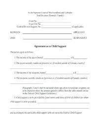 Private Child Support Agreement Template Maintenance