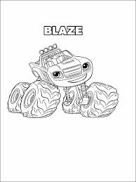 Blaze And The Monster Machines Coloring Pages 8 Free Items Train
