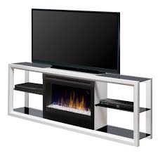dimplex novara 64 in freestanding electric fireplace tv stand media console in white