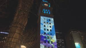 Downtown Denver Lights Night Lights Denver Showcases Artwork On D F Tower Downtown
