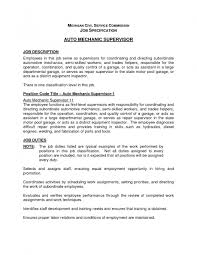 auto mechanic resume cover letter cipanewsletter auto mechanic job description resume samples of resumes