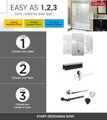 delta shower door handle delta shower door from component item delta shower door handle sliding