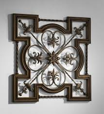 Black Iron Wall Decor Ornate Tuscan Old World Wrought Iron Amp Wood Fleur De Lis Wall