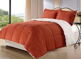 chocolate and burnt orange comforter set burnt orange borrego blanket down alternative twin 19