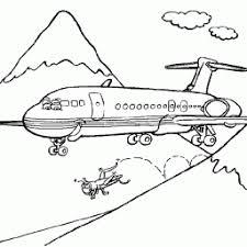 Kleurplaat Vliegtuig Vliegt Door Bergen Kleurplaatarchiefnl