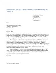 Remarkable Sample Cover Letters For Teachers Letter Photos Hd
