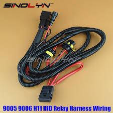 sinolyn 12v 35w 55w 9005 9006 h11 hid xenon bulbs relay harness HID Relay Wiring Diagram at 55w Hid Wiring Harness