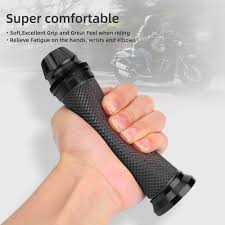 <b>Motorcycle Handlebar Grips</b>, Lavmar CNC Aluminum Rubber <b>Hand</b>