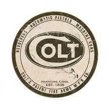 Placa Metálica Decorativa Colt Logo - Circulo 1809 - Falcon Armas