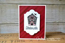 Stampin Up Seasonal Decorative Masks SIMPLE CANDY CANE LANE CARD Stampin Up Demonstrator Linda Cullen 61