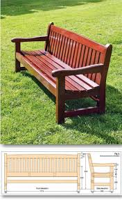 Simple Furniture Plans Bench Wonderful Simple Wooden Bench With Backrest Wonderful