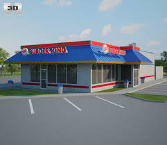 burger king restaurant. Perfect Burger Burger King Restaurant 02 3D Model And O