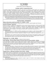 Resume For Supply Chain Executive New Asset Management Resume Sample