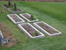 4 x 8 x 16 inch concrete cap block raised bed planters