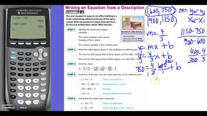 5 1 writing linear equations from situations and graphs