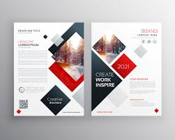 Leaflet Design Portfolio Creative Business Brochure Template Design In Size A4 Vector