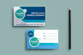 Appointment Card Template Healthcare Clinic Appointment Card Template In Psd Ai