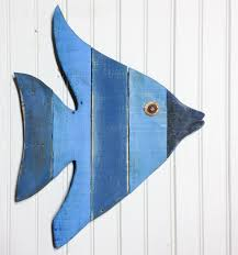 painted angel fish art beachy wall art made with reclaimed lumber great for a on painted wood fish wall art with painted angel fish art beachy wall art made with reclaimed lumber