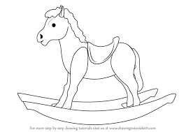 Small Picture Step by Step How to Draw Rocking Wooden Horse for Kids