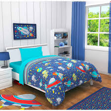 idea nuova outer space 3 piece toddler bedding set with bonus matching pillow case com