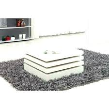 coffee tables with led lights white high gloss rectangular table lighting hi round black square