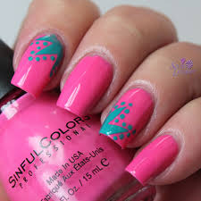 sinful colors rise shine. SinfulColors Rise \u0026 Shine. And Some Simple Nail Art Using Vinyls A Dotting Tool. Sinful Colors Shine