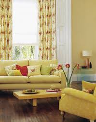 Yellow Colors For Living Room Living Room Yellow Painted Wall With White Leather Cushion Also
