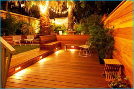 patio deck lighting ideas ideas for deck lighting thegreenstation