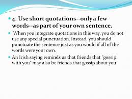 Quotes In A Sentence New Writing Using Leadins Quotes And LeadOuts In Paragraphs And