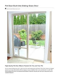 dog door in window pet for built into sliding glass