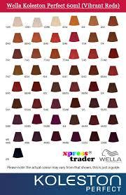 Wella Koleston Chart 23 Faithful Koleston Colour Charts
