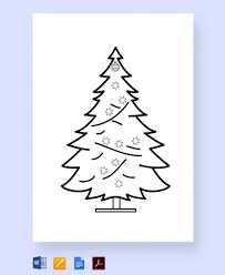 Coloring Pages Free Printable Christmas Tree Templates Christmas
