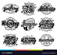 How To Design T Shirt Logo Set Of Sport Badges Graphic Design For T Shirt