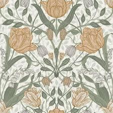 filippa large flower print wallpaper
